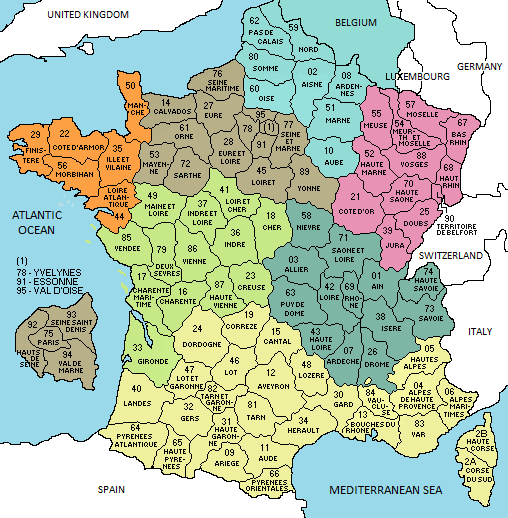 map france department